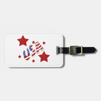 USA Stars Bag Tag