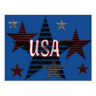 USA Stars Postcard