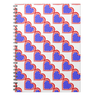 USA/Stars & Stripes flag-inspired Personnalised Spiral Notebook