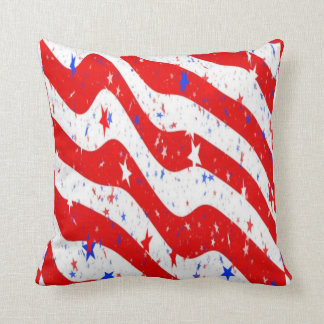 usa stars throw pillow