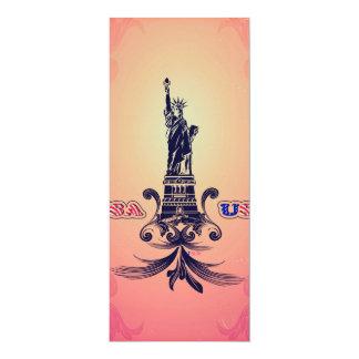 "USA Statue of Liberty 4"" X 9.25"" Invitation Card"