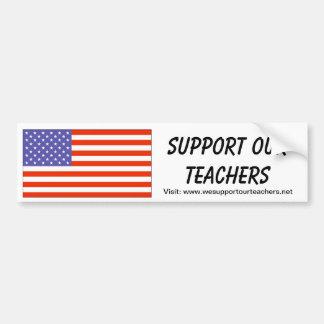 USA -- Support Our Teachers Bumper Sticker