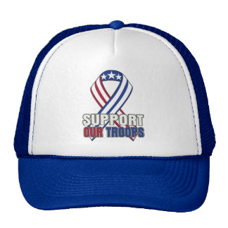 USA Support Our Troops Mesh Hats