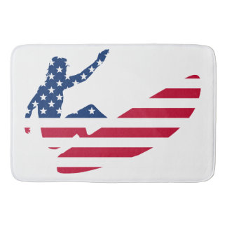 USA surfing American surfer Bath Mat