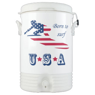 USA surfing American surfer Drinks Cooler