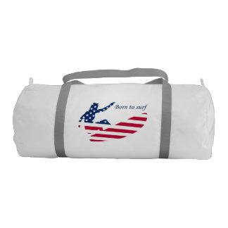 USA surfing American surfer Gym Bag