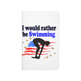 USA SWIMMER DESIGN I WOULD RATHER BE SWIMMING JOURNAL