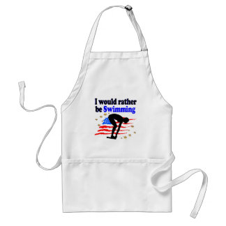 USA SWIMMER DESIGN I WOULD RATHER BE SWIMMING STANDARD APRON