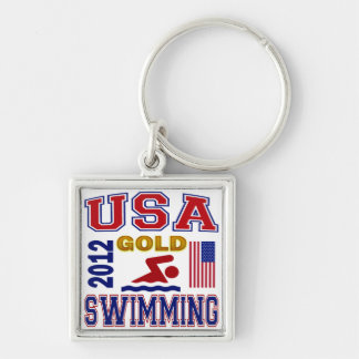 USA SWIMMING GOLD 2012 KEYCHAIN