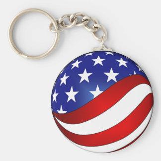 USA Swirl keychain