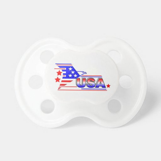 USA symbol Baby Pacifier