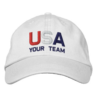 USA Team Olympics Embroidered White Hat Embroidered Baseball Cap