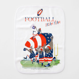 USA team work, tony fernandes Baby Burp Cloths