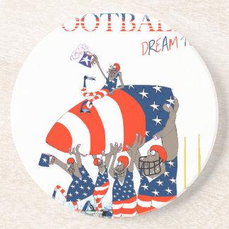 USA team work, tony fernandes Drink Coaster