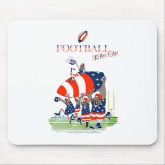 USA team work, tony fernandes Mouse Pad