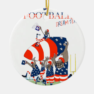 USA team work, tony fernandes Round Ceramic Ornament