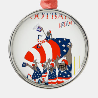 USA team work, tony fernandes Silver-Colored Round Ornament