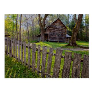 USA, Tennessee, Cabin In Cades Cove Postcard