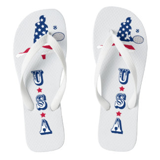 USA Tennis American player Flip Flops