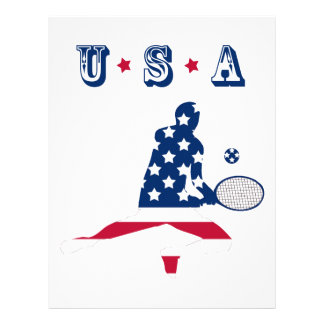 USA Tennis American player Letterhead
