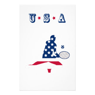 USA Tennis American player Stationery