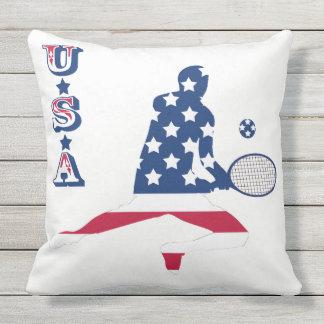 USA Tennis American player Throw Pillow