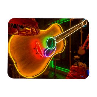 USA, Texas, Austin. Neon Guitar At Blackmail Rectangular Photo Magnet