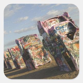 USA, TEXAS, Panhandle Area, Amarillo: Cadillac Square Sticker