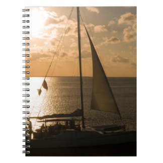 USA, Texas, South Padre Island. Sailboat Notebook