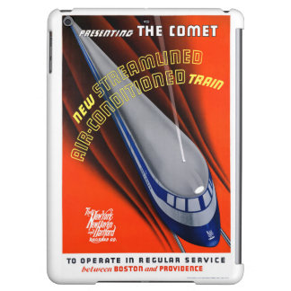 USA The Comet Vintage Travel Poster Restored Case For iPad Air