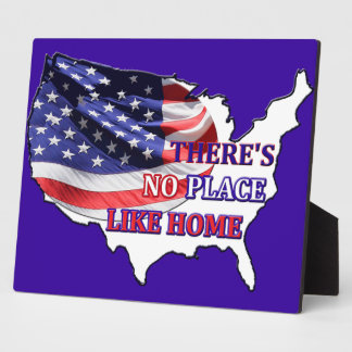 USA - There's No Place Like Home Plaque