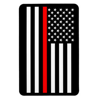 USA Thin Red Line Magnet