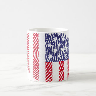 Usa touch fingerprint flag coffee mug