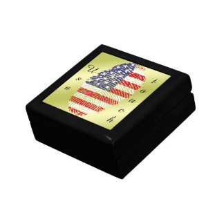 Usa touch fingerprint flag keepsake boxes