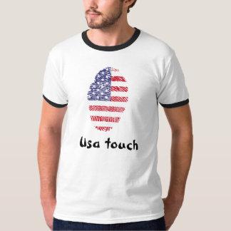 Usa touch fingerprint flag T-Shirt
