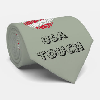 Usa touch fingerprint flag tie