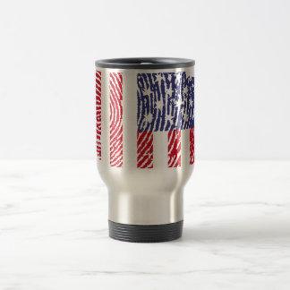 Usa touch fingerprint flag travel mug