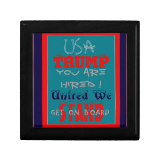 USA Trump You Are Hired! United We Stand Get On! Gift Box