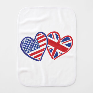 USA---UK-Love Burp Cloth