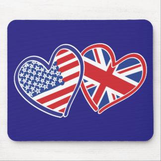 USA---UK-Love Mouse Pad