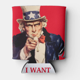 USA Uncle Sam Patriotic Can Cooler