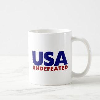 USA UNDEFEATED CLASSIC WHITE COFFEE MUG