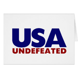 USA UNDEFEATED GREETING CARD