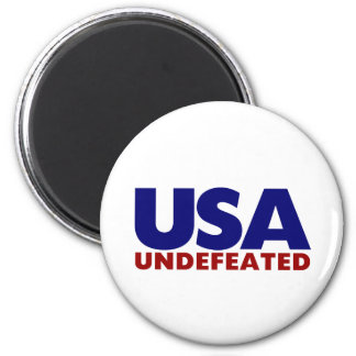USA UNDEFEATED 2 INCH ROUND MAGNET
