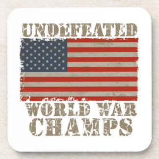 USA Undefeated World War Champions Drink Coaster