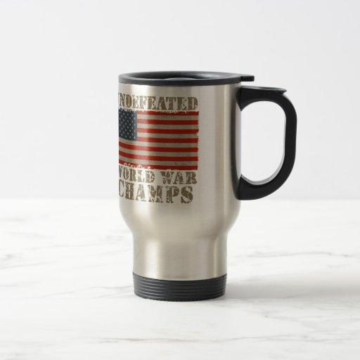 USA, Undefeated World War Champions Coffee Mug