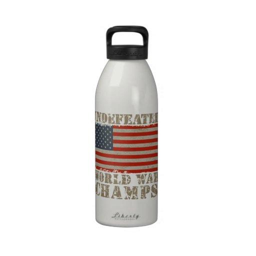 USA, Undefeated World War Champions Drinking Bottles