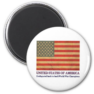 USA Undisputed back to back world war champions 2 Inch Round Magnet