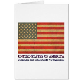 USA Undisputed back to back world war champions Greeting Card