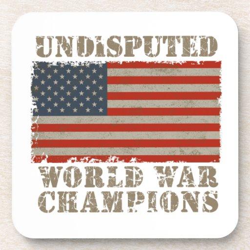 USA, Undisputed World War Champions Beverage Coaster